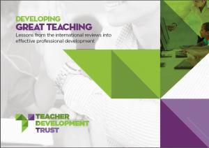 PRESS RELEASE: MIND THE GAP IN TEACHER CPD