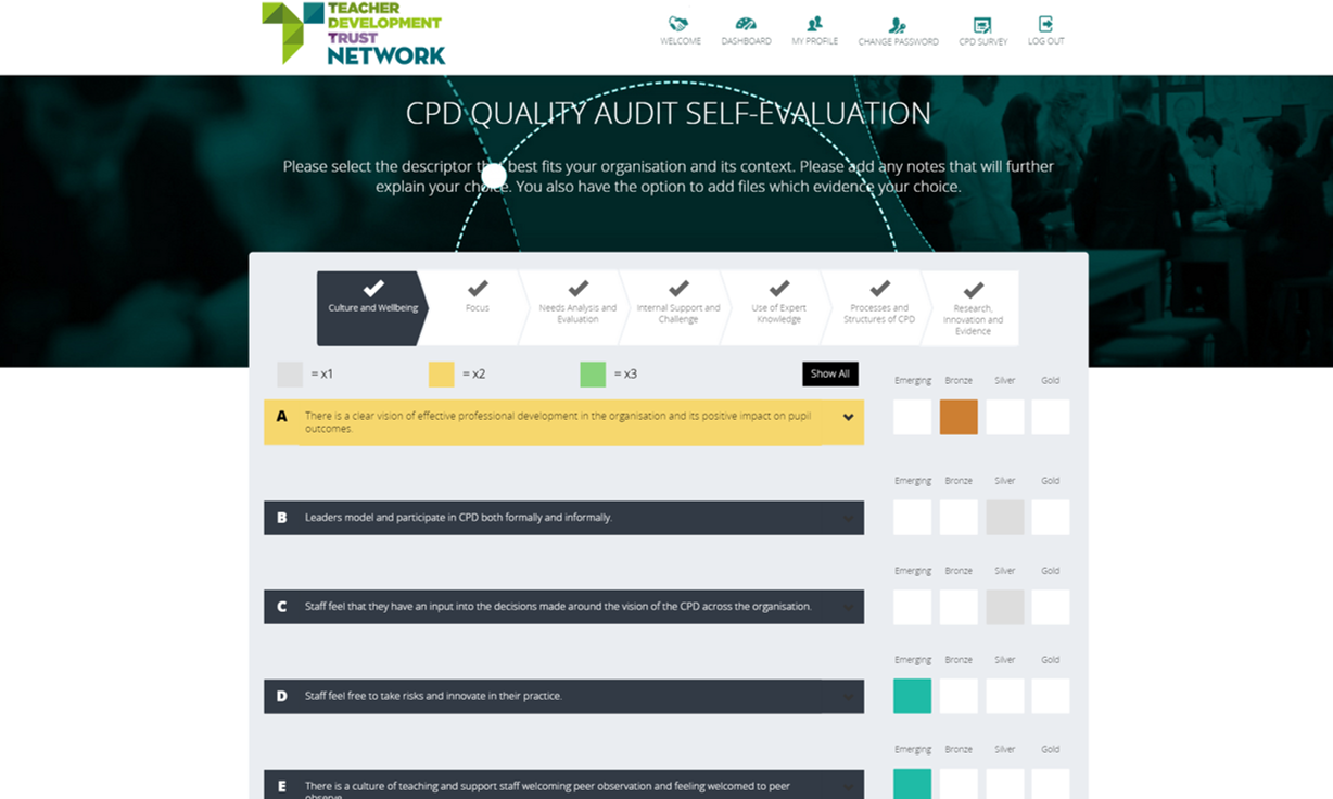 An image of the digital audit tool