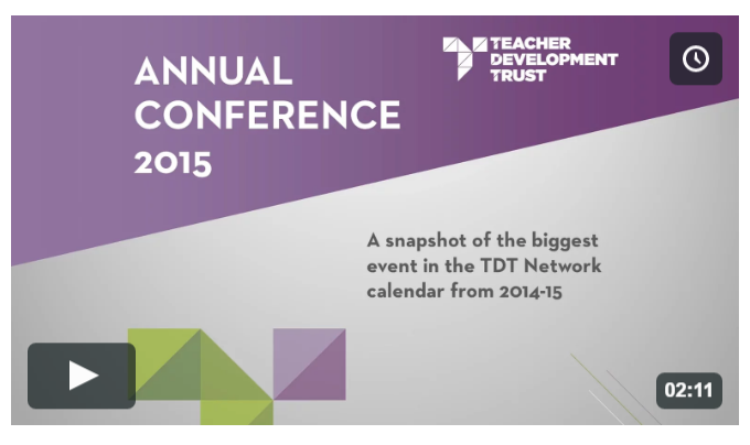 Click to view a video of TDT's 2016 Annual Conference