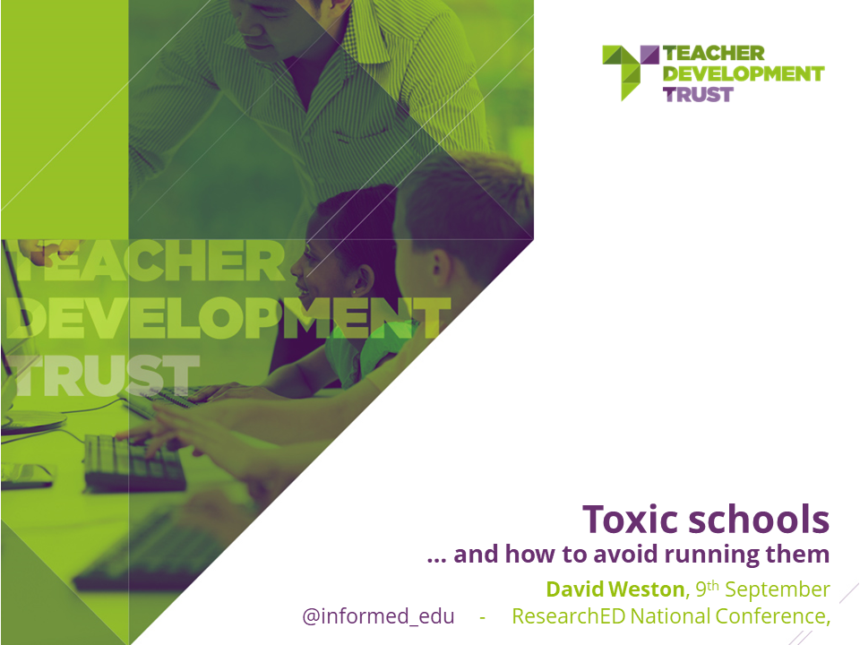 Toxic Schools And How To Avoid Running Them