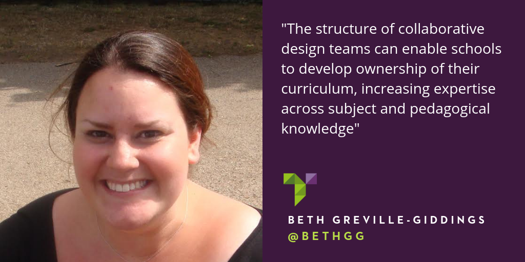 Collaborative curriculum design and professional growth