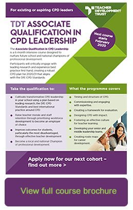 TDT Associate Qualification course brochure