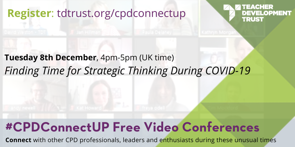 #CPDConnectUp Finding Time for Strategic Thinking During COVID-19, 8th December 2020
